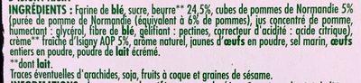 Sablés pur beurre aux pommes  A la crème fraîche d'Isigny A.O.P. - Ingrediënten