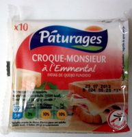 Les tranchettes croque monsieur à l'emmental - Product - fr