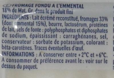 Les tranchettes croque monsieur à l'emmental - Ingrédients - fr