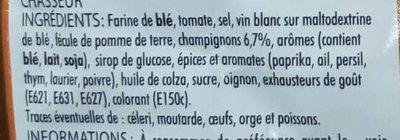 Sauce chasseur aux champignons - Ingrédients - fr