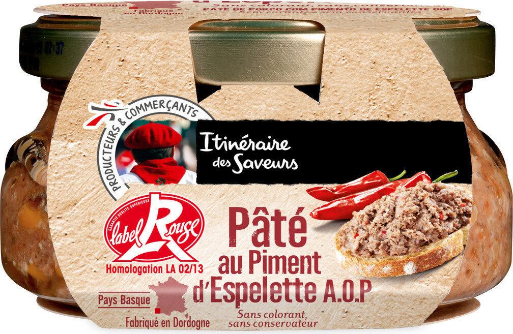 Pâté de porc au piment d'Espelette aop label rouge - Produit - fr