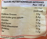 Nuggets de Poulet - Voedingswaarden - fr
