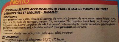 Parmentier de poisson et légumes - Ingredients - fr