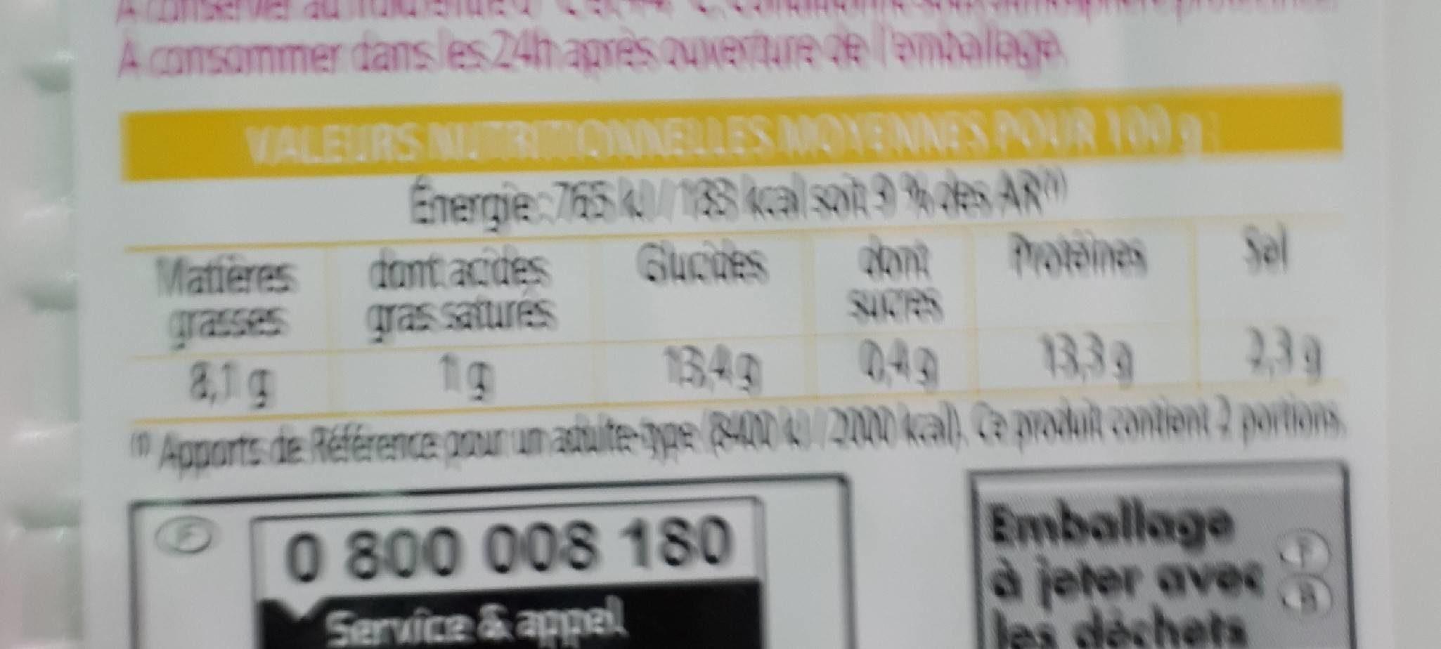 Les Cuisinés, Acras de morue Créole, prêt à réchauffer, la barquette de 200 g - Nutrition facts