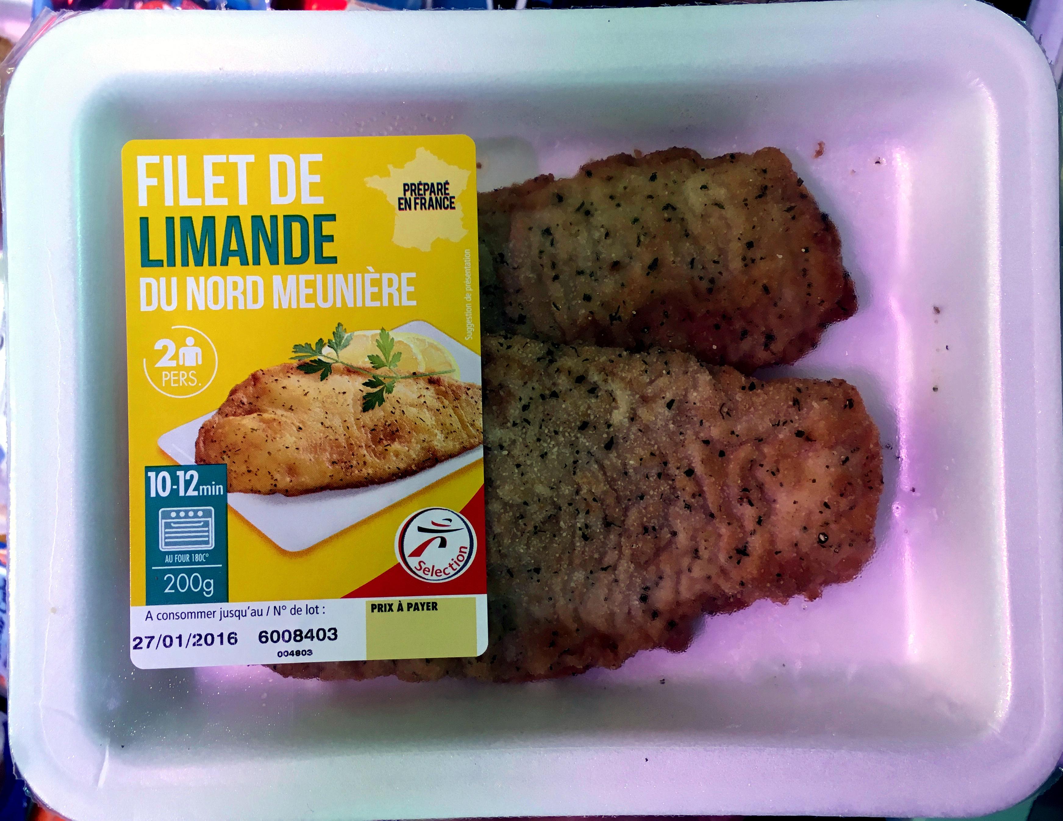 Filet de Limande du Nord Meunière - Product - fr