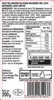 Filets de limande du Nord meunière - Voedingswaarden - fr