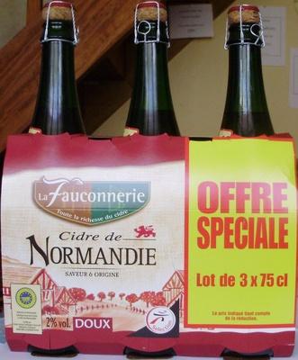 Cidre de Normandie, Doux (2 % vol.) [La bouteille : code barre 3250390030560] - Product