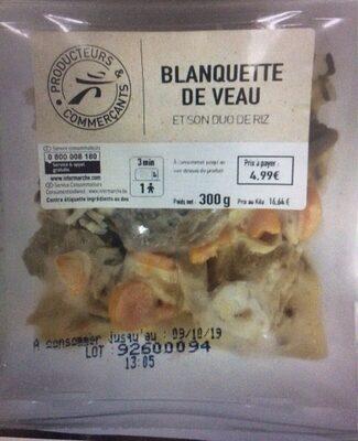 Blanquette de veau et son duo de riz - Produit