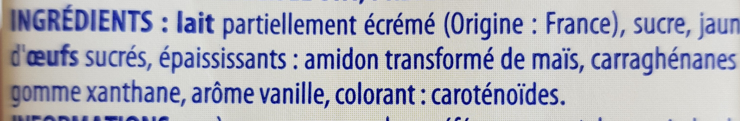Crème Anglaise prête à l'emploi - Ingredienti - fr