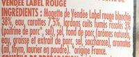 Mogette cuisinée à base de Mogette de Vendée Label Rouge - Ingredienti - fr
