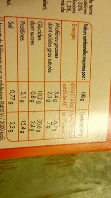 Hachis Parmentier Surgelé - Nutrition facts