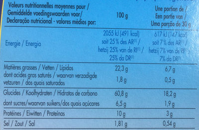Crackers au Sésame & Pavot - Nutrition facts