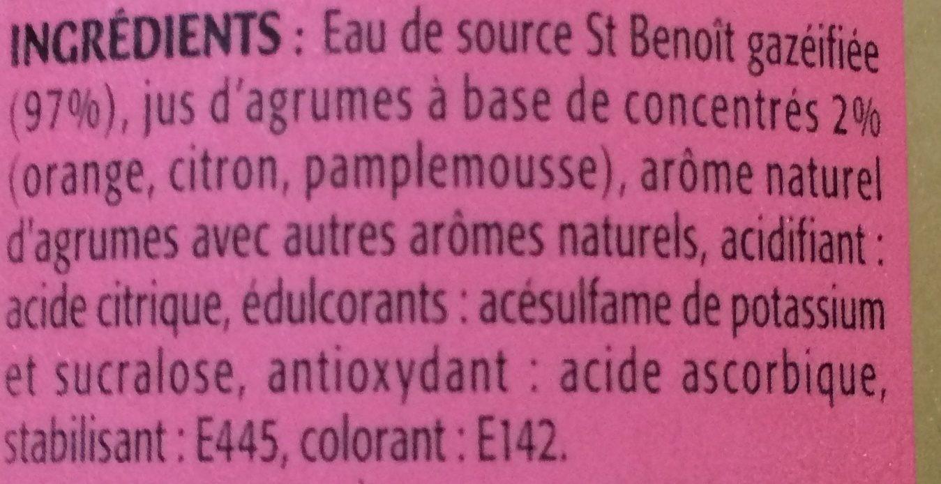 Look, Agrumes zero, la bouteille - Ingrédients - fr