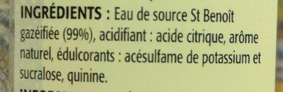 zéro tonic - Ingrediënten