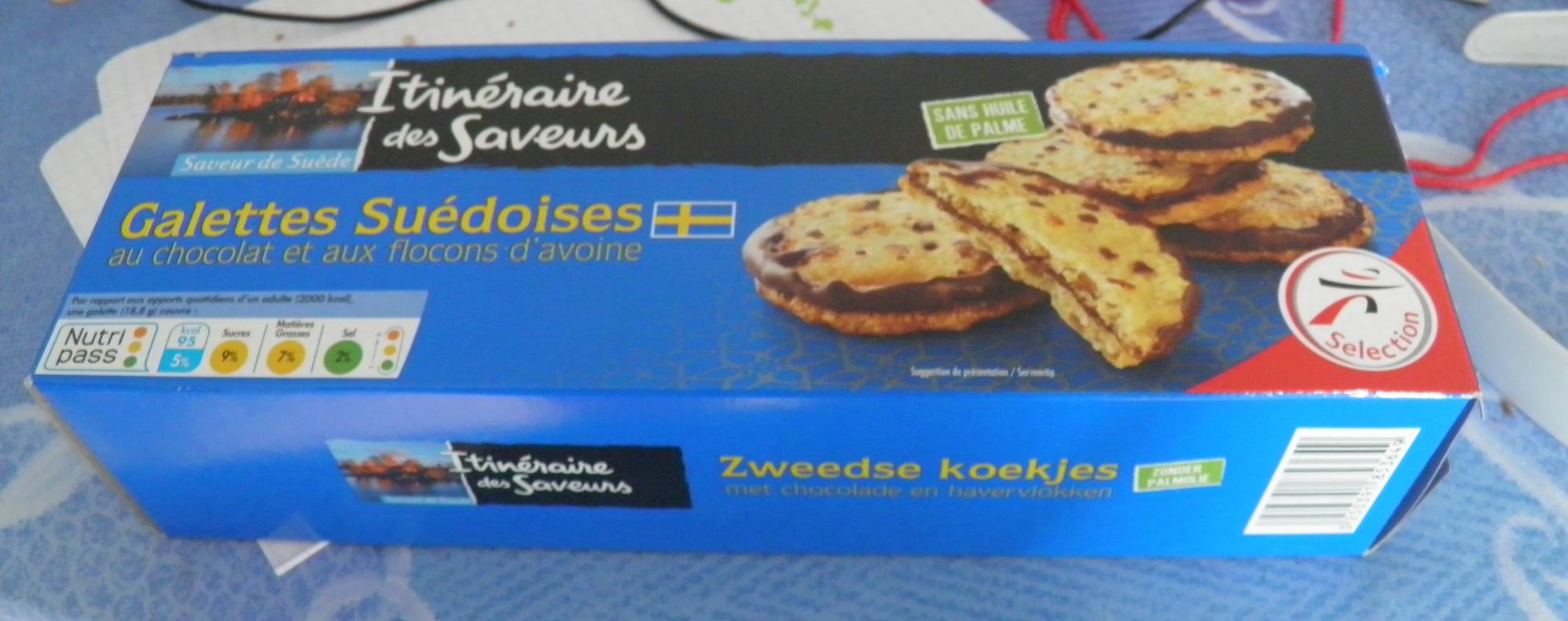 Galettes suédoises au chocolat et aux flocons d'avoine - Produit - fr
