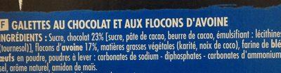 Galettes suédoises au chocolat et aux flocons d'avoine - Ingrédients - fr