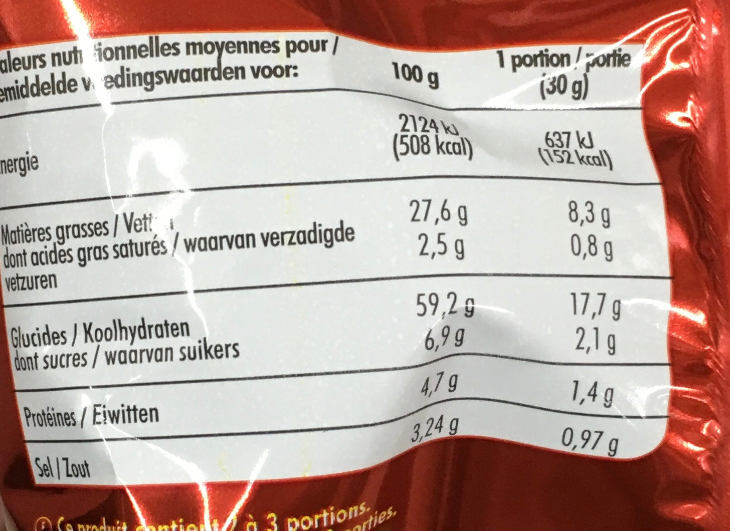 Fantomas Ketchup - Nutrition facts