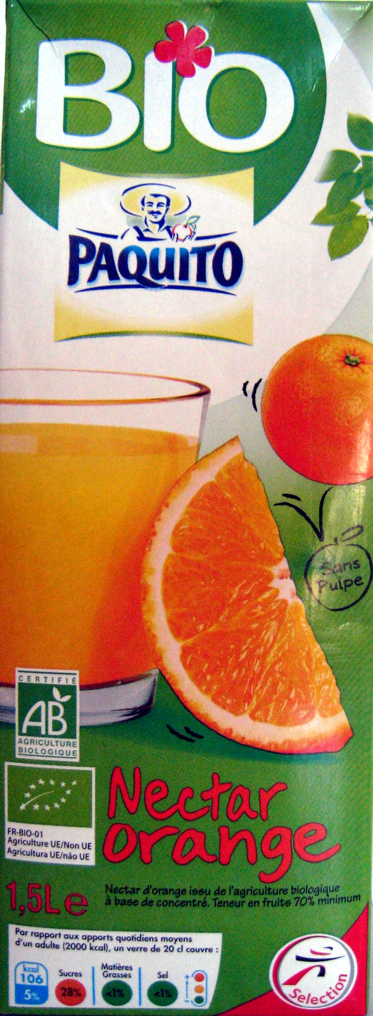 Nectar Orange - Produit