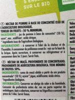 Nectar de pomme bio - Ingrédients - fr