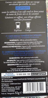 Café décaféiné - Ingredients - fr