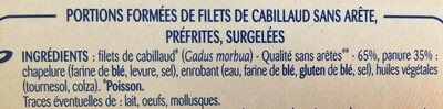 Odyssee, Filet de cabillaud panees, 4 500 g - Ingrédients