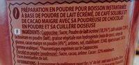 Cappuccino Saveur Chocolat - Plaisir onctueux - Planteur des Topiques - Ingrediënten