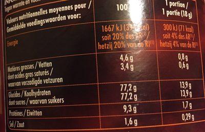Cappuccino Saveur Chocolat - Plaisir onctueux - Planteur des Topiques - Voedigswaarden