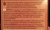 Cappuccino Saveur Chocolat - Plaisir onctueux - Planteur des Topiques - Ingredients