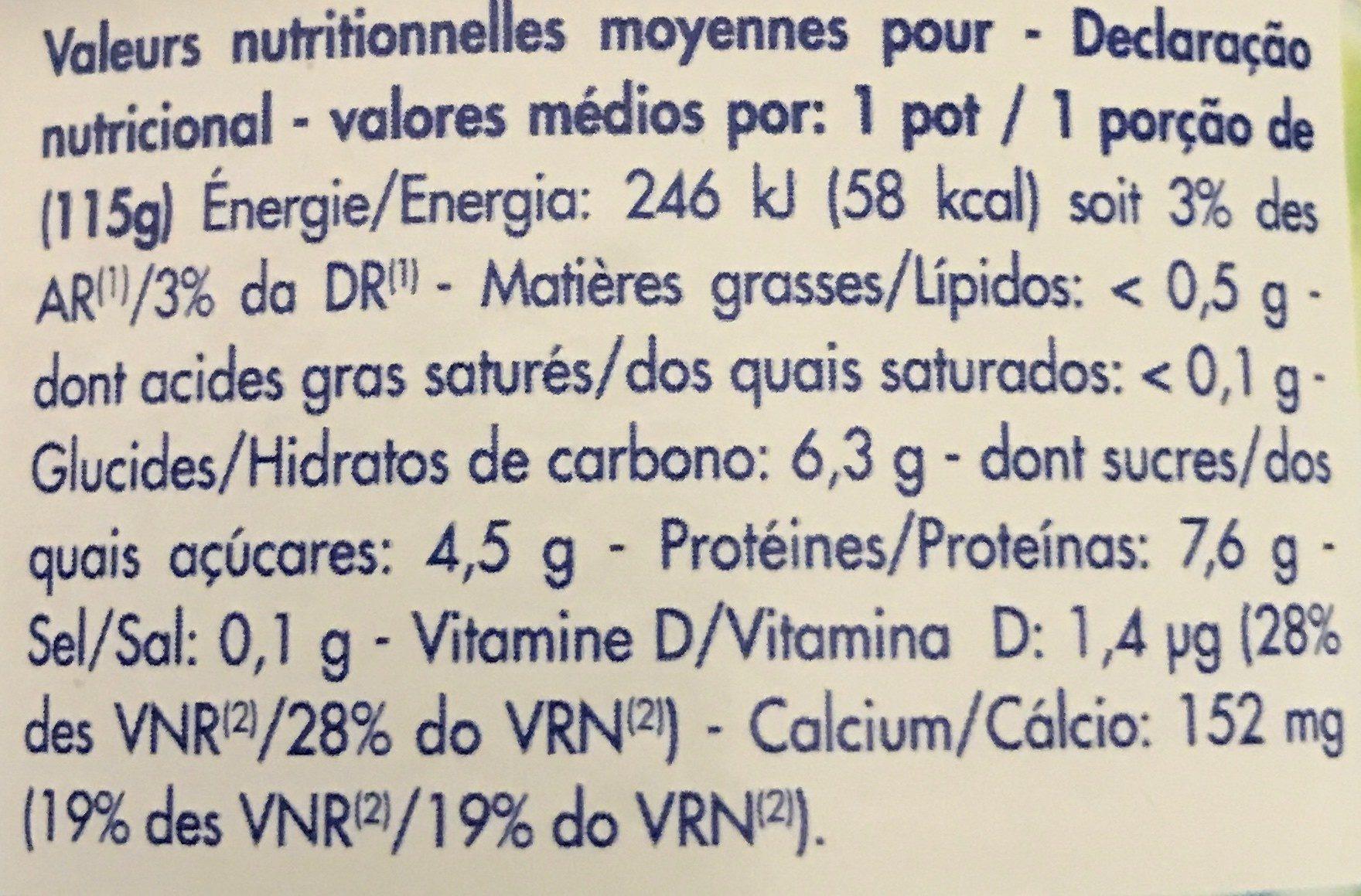 , Mousse au fromage frais Printiligne 0% mure/framboise - Ingrédients - fr