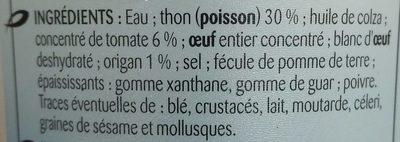 Les tartinable au thonTomates et origan - Ingrédients