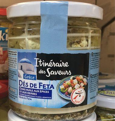 Dés de Feta dans huile aux épices & herbes - Product - fr