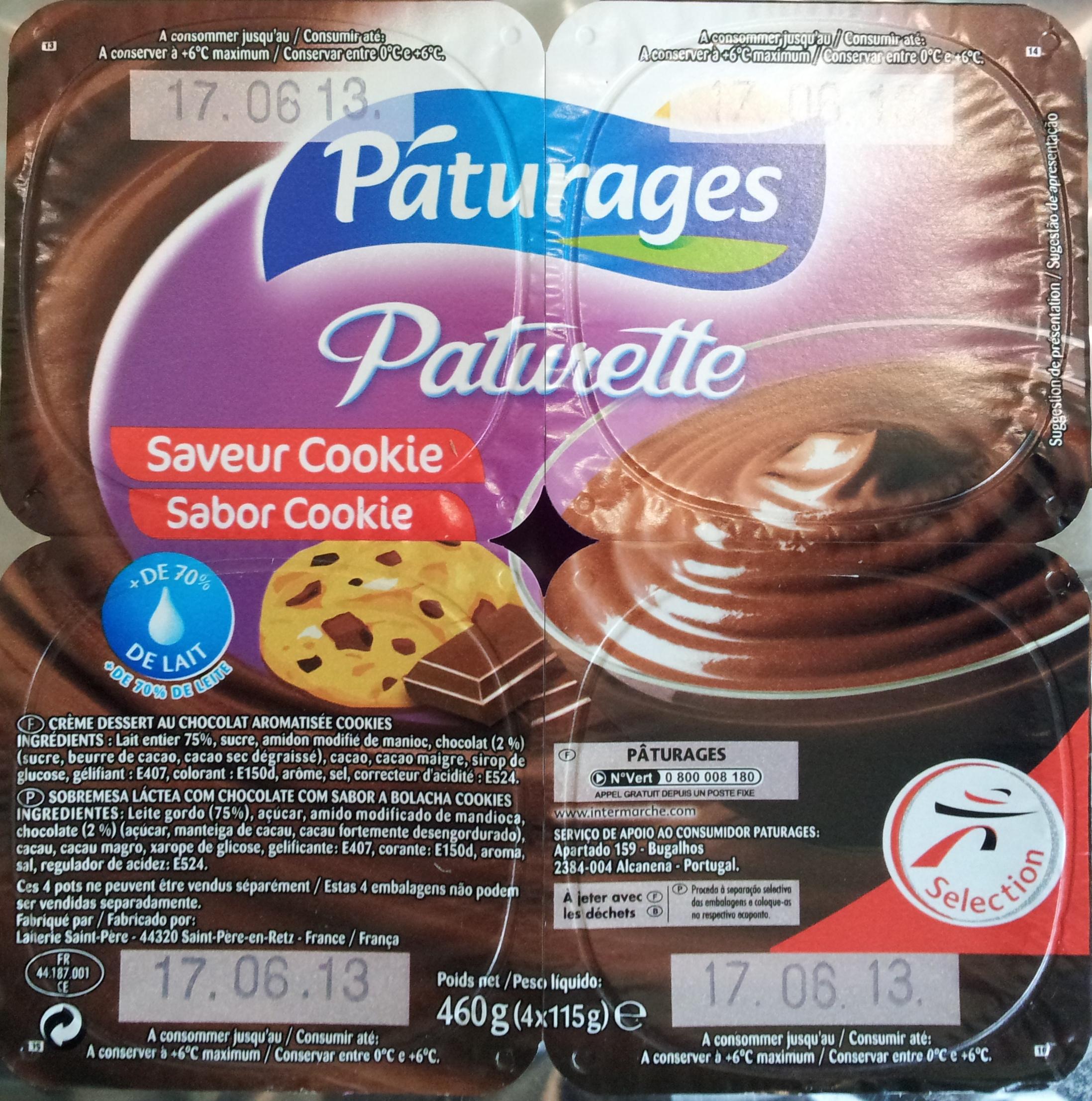 Paturette Saveur Cookie - Product - fr