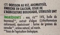 Riz nature calcium - Ingrédients - fr