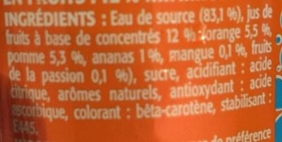 Tropical - Ingredients - fr