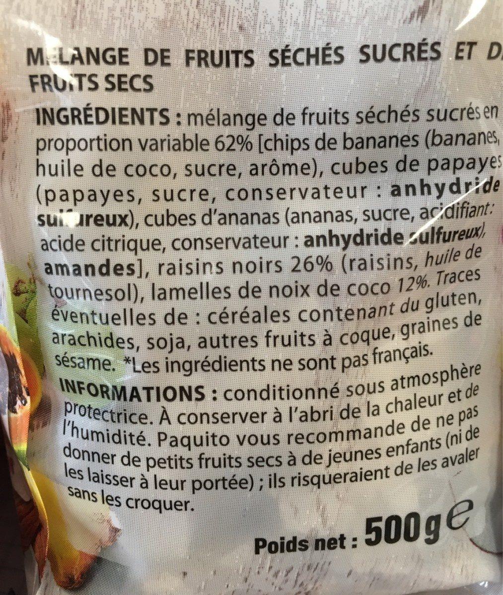 Mélange Tropical - Ingredients - fr