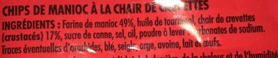 Chips de crevettes - Ingredients