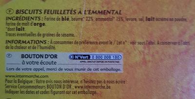 Mini flûtes feuilletées Emmental - Ingredients