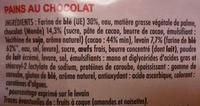 Pains au Chocolat (x 16) Format familial 720 g - Ingrédients