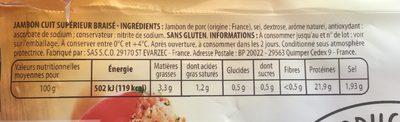 Le braisé - Ingredients - fr