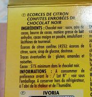 Ballotin citronnettes - Ingrédients