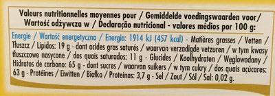 Ballotin citronnettes - Informations nutritionnelles