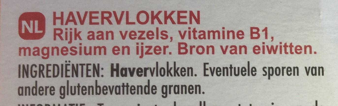 Flocons d'Avoine - Ingredients