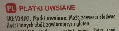 Flocons d'avoine - Składniki - pl