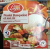 Poulet basquaise et son riz (sauce cuisinée au piment) - Product