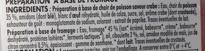 5 Bât' Surimi + Sauce Fromage Ciboulette & Citron - Ingrédients - fr