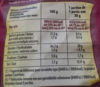Craquilles saveur bacon - Informations nutritionnelles - fr