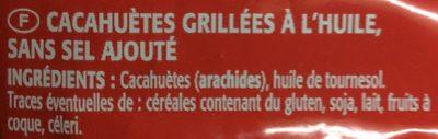 Cacahuètes grillées sans sel ajouté - Ingrédients - fr
