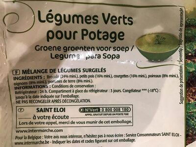 S.eloi Legume Vert Potage - Ingrédients