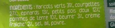Purée de légumes verts L'essentiel - Ingrédients