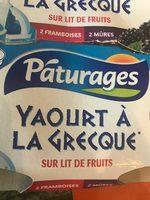 Pâturages Yaourt à la grecque sur lit de fruits les 4 pots de 150 g offre spéciale - Produit - fr
